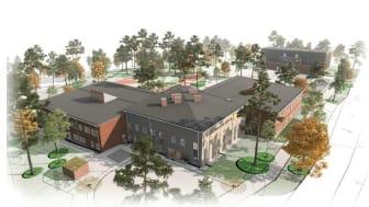 Illustration av Stockfalletskolan