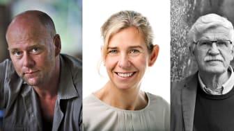 Folke Rydén, Johanna Ragnartz och Gunnar D Hansson samtalar om hur var och en kan ge sitt bidrag till ett friskt hav. Fotomontage, orginalbilder, Klum/HSR/Arén