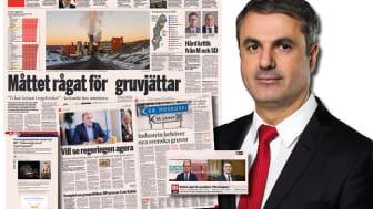 I morgon onsdag kommer näringsminister Ibrahim Baylan till Svemins Höstmöte. Bilden är ett kollage. Skärmdumpar från di.se samt foto av Kristian Pohl/Regeringskansliet.