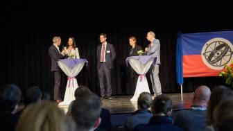 Podiumsdiskussion beim Weltmarktführer-Forum mit Bildungsministerin Karin Prien, Dr. Peter Rösner, Leiter Stiftung Louisenlund und Britta Brechtel, Geschäftsführerin FLS GmbH