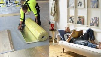 weberfloor acoustic förhindrar spridningen av störande ljud i byggnader.