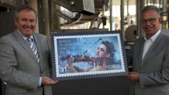Feirer Bergen Filharmoniske med frimerke
