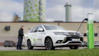 Linde energi köper in och leasar endast elbilar, laddhybrider eller biogasbilar som tjänstebilar eller förmånsbilar.