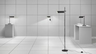 Svit består av vägg-, bord- och golvarmaturer.