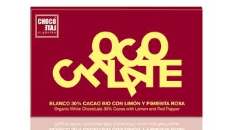 ChocoLate Organiko White Chocolate with Lemon & Red Pepper