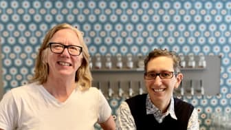 VS Brodie och Jami Weinstein, ägare Whippet Lab restaurant and Social Justice Club