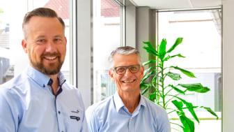 Daglig leder Stian Martinsen og ny styreleder i Trainor Elsikkerhet AS, Peter Svarrer er klare for å ta Trainors opplæring til resten av Norden. Foto: Trainor