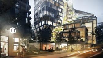 BSK Arkitekter och Veidekke utformar en ny stadsdel i Solna med 23.000 kvm kontor och drygt 600 bostäder.