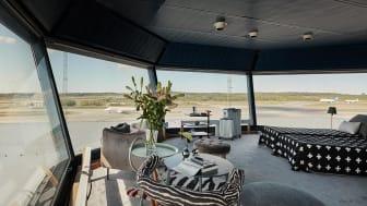 Utsikten från ramptornet på Stockholm Arlanda Airport. Foto: Joakim Johansson