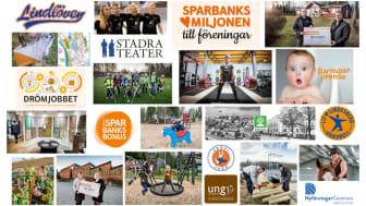 Ett axplock av vad Bergslagens Sparbank och ägarstiftelsen tillsammans stöttat under 2020.