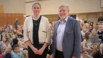 MF, Britt Bager (V) og Formand for Danmarks Private Skoler, Karsten Suhr