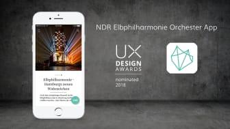 Von APPSfactory realisierte NDR Elbphilharmonie Orchester App für UX Design Awards 2018 nominiert
