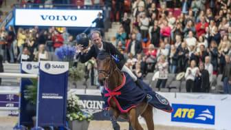 Rolf-Göran Bengtsson vann Gothenburg Trophy förra året med Oak Grove's Carlyle och fick stående ovationer från publiken i Scandinavium. Foto: Roland Thunhom