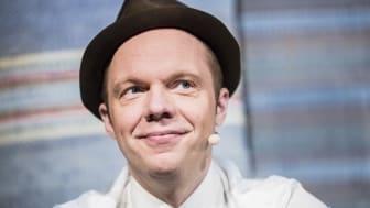 Olof Wretling, från humorgruppen Klungan och Mammas Nya Kille, är årets förebild då Nolia Karriär hålls i Umeå 14 februari. Foto: Andreas Nilsson