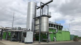 Die Biogasanlage im brandenburgischen Schwedt (Bild: GASAG)