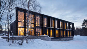 Prosjektet Norsk Helsearkiv på̊ Tynset har oppnådd klimamålene satt for prosjektet med god margin. Bilde: Statsbygg/Trond Isaksen