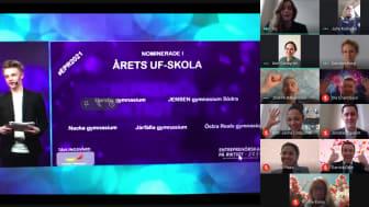 JENSEN gymnasium utsedda till Stockholms bästa UF-skola