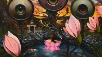 """Utställningen """"Den Magiska Trädgården"""" på Galleri Ulfsunda av konstnären Gunnar Foley"""