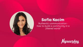 Sofia Kacim, retorikkonsulent, grundlægger af det globale netværk HER og keynote speaker på Mynewsday 2020