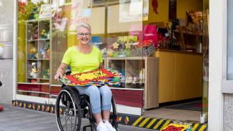 Rita Ebel baut Rampen aus Legosteinen für mehr Barrierefreiheit  / Fotocredits: Asye Tasci