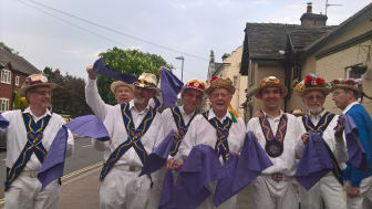 Uttoxeter Heart of Oak Morris Men Make May Purple to support the Stroke Association