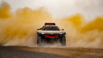 Audi RS Q e-tron testad i Marocko inför Dakarrallyt