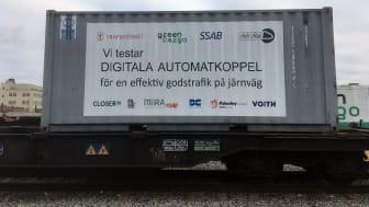 Green Cargo testar digitala automatkoppel för effektivare godstrafik på järnväg i unikt europeiskt samarbete