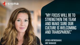 Jessica Mitrosbaras ansluter sig till Sigma Technology Solutions ledningsgrupp i Göteborg.