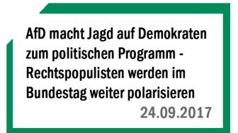 AfD macht Jagd auf Demokraten zum politischen Programm - Rechtspopulisten werden im Bundestag weiter polarisieren und Ängste schüren
