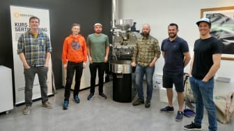 De seks finalistene i NM i Kaffebrenning 2021
