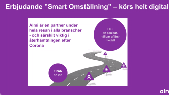 """Digital informationsträff ör Noras industriföretag - där Almi bl a erbjuder """"Smart omställning""""."""