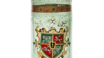 Bägare av glas från 1627