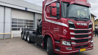 Alex Jensen Transport ApS' nye, flotte Scania R 650.