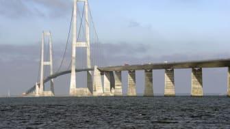 Sommertravlhed i mobiltrafikken ved Storebæltsbroen
