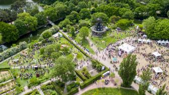 Malmö Garden Show från ovan. Foto Magnus Franzèn