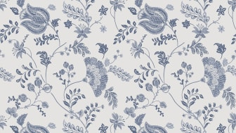 Wallpaper Scandinavia 10x0,53 m Loka Blue white Non-woven