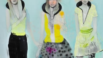 "Cathrine Raben Davidsen: ""Returning of the Favor"", 2005. Signed. Oil on canvas. 200 x 240 cm. Unframed. Estimate: DKK 100,000-125,000."