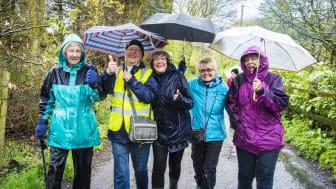 Eileen Robinson leads a Summerseat Health Walk.