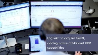 LogPoint, l'innovateur mondial en matière de cybersécurité, a annoncé l'acquisition de SecBI, basé à Tel Aviv, un acteur 'disruptif' en matière de détection et de réponse automatisées aux cybermenaces