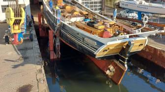 """Traditionsschiff """"Zuversicht"""" in der Rathje Werft"""