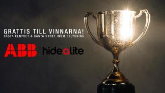 ABB och Hide-a-lite vinner prestigefyllda pris på Elmässan