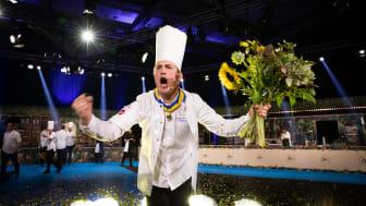 Gustav Leonhardt är Årets Kock 2021. Foto: Anna Björkegren