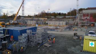 Byggeplass på Saupstad