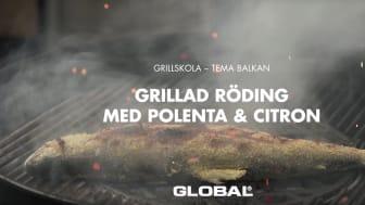 Global grillskola - Röding med polenta, citron & potatissallad