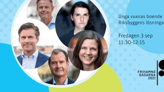 Följ Riksbyggens seminarium om unga vuxnas boende under Frihamnsdagarna