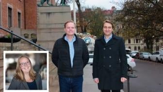 Från vänster: Johanna Hultgren, Magnus Käll och David Wahlund.