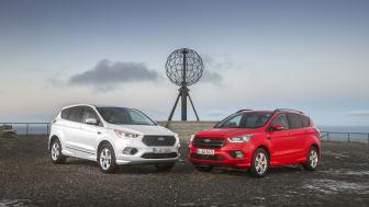 Europa-lanseringen av nye Ford Kuga har kjørt hele veien fra Athen til Nordkapp - og nå er målet nådd.