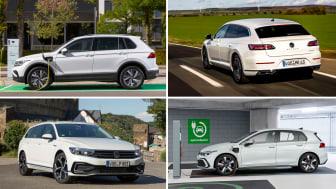Med introduktionen af Tiguan eHybrid og Arten eHybrid har Volkswagen en alsidig kvartet af plug-in-hybrid-modeller.