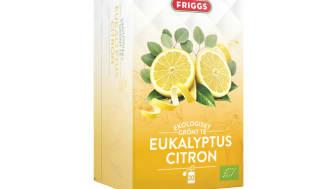 Nu lanseras Friggs Ekologiskt grönt te Eukalyptus Citron som ingår i varumärkets premiumsortiment med noggrant utvalda råvaror.
