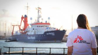 Sök- och räddningsfartyget Sea-Watch 4 i hamnen i spanska Burriana.